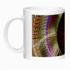 Background Image With Hidden Fractal Flower Night Luminous Mugs