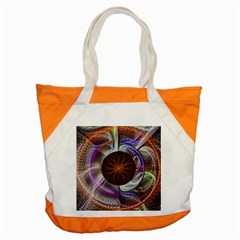 Background Image With Hidden Fractal Flower Accent Tote Bag