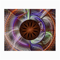 Background Image With Hidden Fractal Flower Small Glasses Cloth (2-Side)