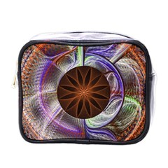 Background Image With Hidden Fractal Flower Mini Toiletries Bags