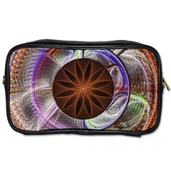 Background Image With Hidden Fractal Flower Toiletries Bags 2-Side