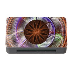Background Image With Hidden Fractal Flower Memory Card Reader with CF