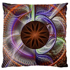 Background Image With Hidden Fractal Flower Large Cushion Case (One Side)