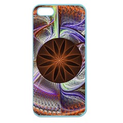Background Image With Hidden Fractal Flower Apple Seamless iPhone 5 Case (Color)