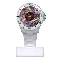 Background Image With Hidden Fractal Flower Plastic Nurses Watch