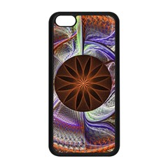 Background Image With Hidden Fractal Flower Apple iPhone 5C Seamless Case (Black)