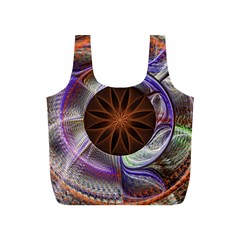 Background Image With Hidden Fractal Flower Full Print Recycle Bags (S)
