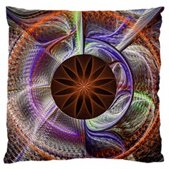 Background Image With Hidden Fractal Flower Standard Flano Cushion Case (two Sides)