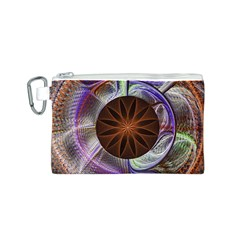 Background Image With Hidden Fractal Flower Canvas Cosmetic Bag (S)