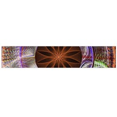 Background Image With Hidden Fractal Flower Flano Scarf (Large)