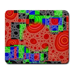 Background With Fractal Digital Cubist Drawing Large Mousepads