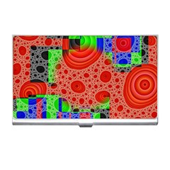 Background With Fractal Digital Cubist Drawing Business Card Holders