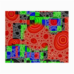 Background With Fractal Digital Cubist Drawing Small Glasses Cloth
