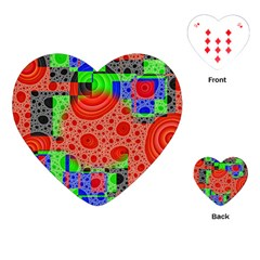 Background With Fractal Digital Cubist Drawing Playing Cards (heart)