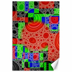 Background With Fractal Digital Cubist Drawing Canvas 20  X 30