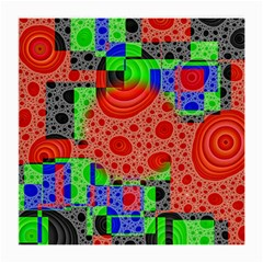 Background With Fractal Digital Cubist Drawing Medium Glasses Cloth
