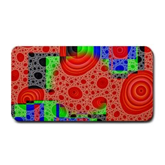 Background With Fractal Digital Cubist Drawing Medium Bar Mats