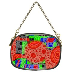 Background With Fractal Digital Cubist Drawing Chain Purses (one Side)