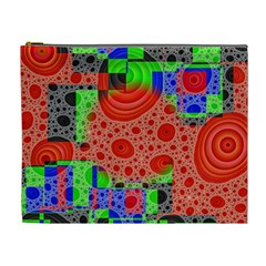 Background With Fractal Digital Cubist Drawing Cosmetic Bag (xl)