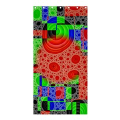 Background With Fractal Digital Cubist Drawing Shower Curtain 36  X 72  (stall)