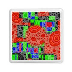 Background With Fractal Digital Cubist Drawing Memory Card Reader (square)