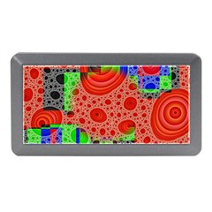 Background With Fractal Digital Cubist Drawing Memory Card Reader (mini)