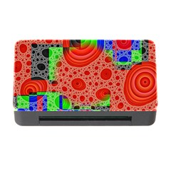 Background With Fractal Digital Cubist Drawing Memory Card Reader with CF