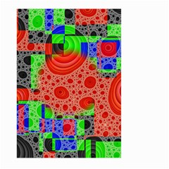 Background With Fractal Digital Cubist Drawing Large Garden Flag (Two Sides)