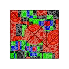Background With Fractal Digital Cubist Drawing Acrylic Tangram Puzzle (4  x 4 )