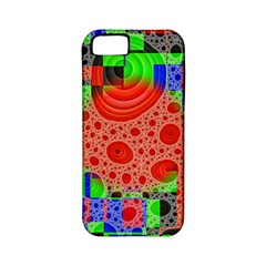 Background With Fractal Digital Cubist Drawing Apple iPhone 5 Classic Hardshell Case (PC+Silicone)