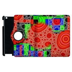 Background With Fractal Digital Cubist Drawing Apple iPad 3/4 Flip 360 Case