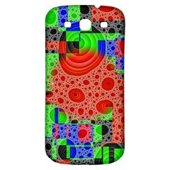 Background With Fractal Digital Cubist Drawing Samsung Galaxy S3 S III Classic Hardshell Back Case
