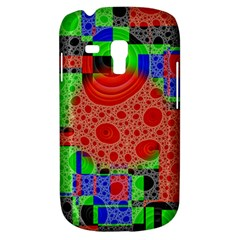 Background With Fractal Digital Cubist Drawing Galaxy S3 Mini
