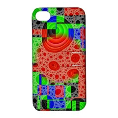 Background With Fractal Digital Cubist Drawing Apple iPhone 4/4S Hardshell Case with Stand