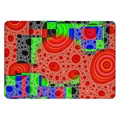 Background With Fractal Digital Cubist Drawing Samsung Galaxy Tab 8.9  P7300 Flip Case