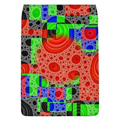 Background With Fractal Digital Cubist Drawing Flap Covers (L)