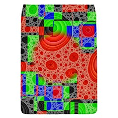 Background With Fractal Digital Cubist Drawing Flap Covers (S)