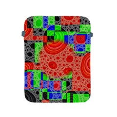 Background With Fractal Digital Cubist Drawing Apple iPad 2/3/4 Protective Soft Cases
