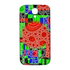 Background With Fractal Digital Cubist Drawing Samsung Galaxy S4 I9500/I9505  Hardshell Back Case