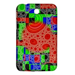 Background With Fractal Digital Cubist Drawing Samsung Galaxy Tab 3 (7 ) P3200 Hardshell Case