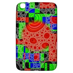 Background With Fractal Digital Cubist Drawing Samsung Galaxy Tab 3 (8 ) T3100 Hardshell Case