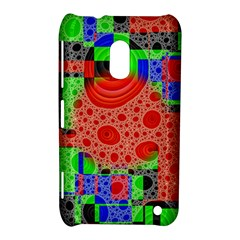 Background With Fractal Digital Cubist Drawing Nokia Lumia 620