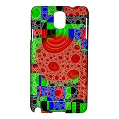 Background With Fractal Digital Cubist Drawing Samsung Galaxy Note 3 N9005 Hardshell Case