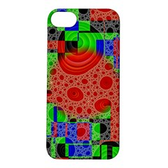 Background With Fractal Digital Cubist Drawing Apple iPhone 5S/ SE Hardshell Case