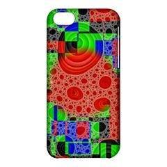 Background With Fractal Digital Cubist Drawing Apple iPhone 5C Hardshell Case