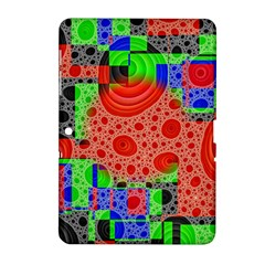 Background With Fractal Digital Cubist Drawing Samsung Galaxy Tab 2 (10.1 ) P5100 Hardshell Case