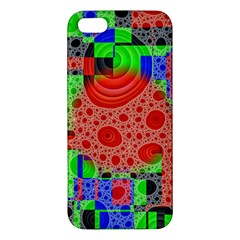 Background With Fractal Digital Cubist Drawing iPhone 5S/ SE Premium Hardshell Case