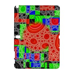 Background With Fractal Digital Cubist Drawing Galaxy Note 1