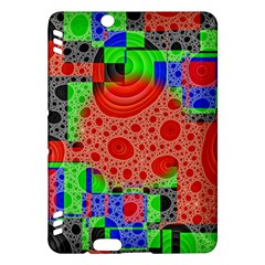 Background With Fractal Digital Cubist Drawing Kindle Fire HDX Hardshell Case