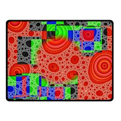 Background With Fractal Digital Cubist Drawing Double Sided Fleece Blanket (small)